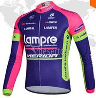 Cheap Saving Tour de France lampre Cycling Jersey Ropa Ciclismo Bike MTB Long Sleeve Breathable merior Bike Jerseys