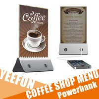 advertising coffee - Universal mAh Menu Power Bank Charger Battery for iphone7 Mobile Power Bank USB Restaurant Coffee Shop Advertising Menu