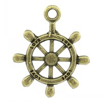 antique steering wheels - Retail Charm Pendants Steering Wheel Antique Bronze quot Love quot Carved x20mm