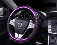 Wholesale 2016 Steering Wheel Covers PU Leather Car Steering Wheel Cover Case Diameter cm Black Color Seasons Available