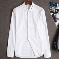 bee mix - Brand Luxury France Famous Men Long Sleeve Shirt Mix Style Bee Signature Embroider Mercerized Cotton Male D Shirt