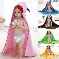 terry hooded towel - 2016 IDGIRL New Cartoon Animal Baby Hooded Bathrobe Bath Towel Bath Terry Bathing Robe For Children Kids Bathrobe BY DHL
