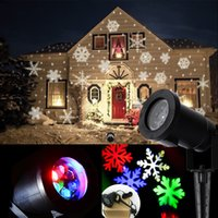 Wholesale Outdoor Christmas snowflake garden lights White and RGB snowflower Laser lights lawn lamp for garden Lighting home decoration holiday light