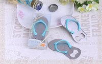 Wholesale 200pcs Festive Party Supplies Stainless steel bottle opener Slipper Beach Wedding Events