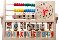 Wholesale Puzzle Children smiley cloud computing rack multifunction infant early childhood educational wooden animal toys growth in cognitive ability