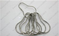 Wholesale 1000pcs New Stainless steel Chrome Plated Shower Bath Bathroom Curtain Rings Clip Easy Glide Hooks