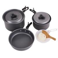 Wholesale Aotu Lightweight Outdoor Camping Hiking Cookware Backpacking Cooking Picnic Bowl Pot Pan Set