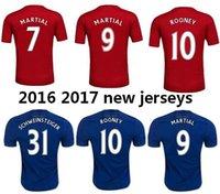 memphis - rooney memphis Schweinsteiger mata Ibrahimovic jersey new united martial away blue soccer jersey utd home red football shirt