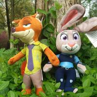 baby toys rabbit - 23cm Cartoon Zootopia Toys Nick Wilde and Judy Hopps Plush Toys Brinquedos Movie Zootopia Fox Rabbit Stuffed Plush Dolls Toys Baby Gift