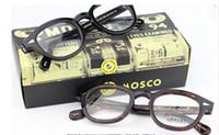 al por mayor sungalsses hombres-Miopía hyperopia prescripción sungalsses Negro concha de leopardo marco Plank material mujeres hombres gafas