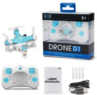 Wholesale DHD D1 RC Drone Ultra Mini Quadcopter Smallest Headless Mode G Channel Remote Control UFO high quality