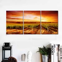 2016 Новые 5 Панели Живопись Холст желтый закат на большом HD Холст печати Краска Произведение искусства Wall Art Picture Gift для гостиной