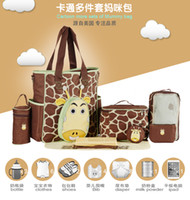 baby bags online - Christmas Supplies Quality Choice Luxry Diaper Bag Combo Online Cute Giraffe Design Pieces A D Baby Bag Set
