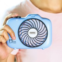 Wholesale Remax Camera Shaped Handheld Desktop Fan Portable Mini USB Rechargeable Batteries Small Ventilador For Office With Retail Package