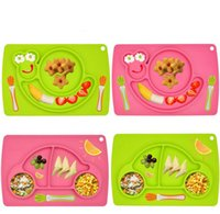 Wholesale Silicone Placemat Plate Food Holder Tray Dishes for Baby Toddler Kid Children with Suction Easy to Clean