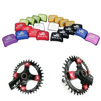 bicycle crank sets - New set SNAIL Aluminum Bike Chain Wheel Nails Ultralight MTB Road Bicycle BMX Crank Plate Screws Crankset Nut
