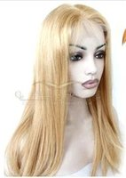 Wholesale Luxury fashion wigs Brazil virgin hair human hair full lace seamless density Hair straight hair color golden color Size to