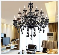 Wholesale Black Murano Glass Crystal Chandelier Light modern black chandelier restaurant chandeliers glass Candle chandeliers crystal ball chandelier