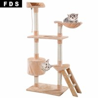 Wholesale New quot Cat Tree Tower Condo Scratcher Furniture Kitten Pet House Hammock Beige PS5792BE