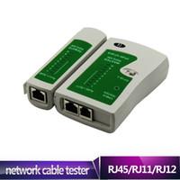 Wholesale AUA Fast shipping RJ45 RJ11 RJ12 CAT5 UTP Network LAN Cable Tester High Quality Networking Tool Retail JS