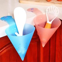 Wholesale New Plastic Kitchen DIY Strainer Suction Cup Colanders Strainers Salad Spinners Save Space Vegetable Tools