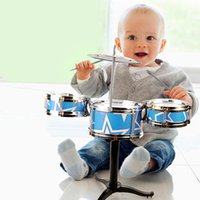Wholesale 2016 New Arrival Baby Children Jazz Drums Set Musical Instruments Play Music Toy Educational Intelligence For Kids Gift
