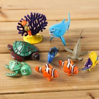 Wholesale In Stock Pixar Finding Nemo Dory Figures Toys PVC Action Figure Toys cm Marlin Dolls Birthday Gifts SZ W017