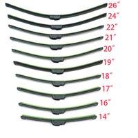 Wholesale Universal U type Soft Frameless Bracketless Rubber Car Windshield Wiper Blade inch Optional