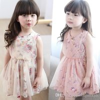 Wholesale Children with girls sleeveless vest skirt dress princess skirt the new summer to years old the skirt with shoulder straps sundress
