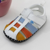 Wholesale 2016 New Handmade Shoes for to Years Old Children Sandals Geuine Leather Sandals for Toddler Pairs