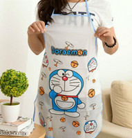 Wholesale 2016 Promotion Special Offer Apron Kit Bib Apron Cartoon Long Sleeve Cuff Waterproof Aprons Gowns Suits For Men And Women