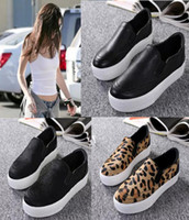 ash sneaker heels - 100 Real Photos Genuine Leather ASH Jungle Slip On Fashion Sneakers ASH Trainers Casual Flat Heel Platform Women Shoes Size