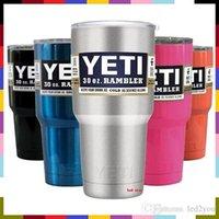 Wholesale Yeti oz Cups Cooler YETI Rambler Tumbler Travel Vehicle Beer Mug Double Wall Bilayer Vacuum Insulated DHL
