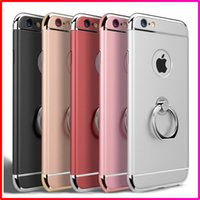 Adults Electric  Luxury 3 in 1 360 Degree Rotating Ring Stand Case Holder Phone Case Flexible TPU Cover With Kickstand Cell Phone Cases For Iphone 5 6s plus