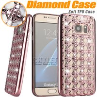 apple brand iphone case - For iPhone Jewerly Diamond Case For LG K10 Cases Fashion Bling Bling Crystal Electroplating Soft Cover Case for Moto G4 OPP Box