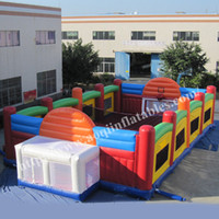Wholesale Hot sale factory price basketball game field outdoor sport game equipment folded inflatable volleyball court for sale