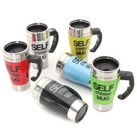 auto design cup - Practical Durable Design Stainless Steel Lazy Self Stirring Mug Auto Mixing Tea Milk Coffee Cup Office Home Gift colors