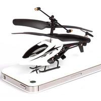 achat en gros de quadcopter a mené la lumière-Mini Drone 3.5CH Radio Remote Control RC hélicoptère électrique Quadcopter avec lumière LED pour les enfants de jouets de Noël