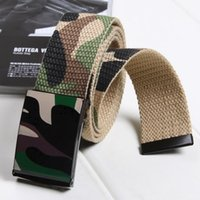 Wholesale Fashion Men s Belts Camouflage Hot Canvas Waistband Waist Straps Buckle Belts