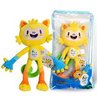 Wholesale 2016 Mascot Dolls Plush Toys Brazil Rio de Janeiro Olympic Paralympic Plush Mascot Vinicius Tom