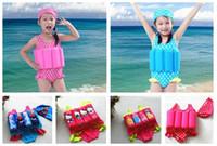 baby floating swimwear - Newly Baby Kids Buoyancy Swimsuits With Swim Cap Frozen Hello Kitty Cars Cartoon Life Vest Float Swimwear Kids Learn to Swim Swim Clothes