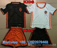 Wholesale NEW valencia cf Home Kids kit Soccer Jerseys Valencia Child youth Kits football clothes SHIRTS Top Thai Quality
