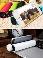 Wholesale Bluetooth speaker with mAh battery Phone holder wireless speakers Handfree Mic Stereo Portable Speaker power Tube Speaker Call Function