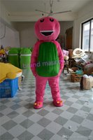 barney party supplies free shipping - The most popular Christmas Halloween Barney cartoon costumes for Halloween party supplies adult size mascot