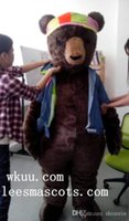 actual time - Ohlees Actual Picture Bear Hot Tub Time Machine movie Mascot Costumes Character For Halloween Party Activity Fancy Christmas Adult Size