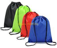 Wholesale 100pcs Portable String Bag Drawstring Back pack Gym Swim School Dance Shoe Boot PE Drawstring Bag Backpack