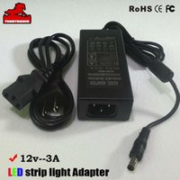Wholesale 12V A adapter w for SMD5050 led strip light CE FCC ROHS SAA approval DC male plug adapter