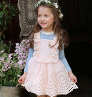 Precio de La liga del estilo del chaleco-Las muchachas atan los vestidos 2016 de la liga de la colmena los nuevos cabritos que arropan a los muchachos coreanos del estilo atan a los cabritos del vestido de la princesa del tutú de Tulle el vestido partyA9167