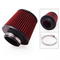Wholesale 3 quot mm and mm Height Car High Flow K N Cone Cold Air Intake Filter Cleaner