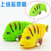 Wholesale 2016 Cute Fish Model Wind Up Toy fish for Kid Christmas Birthday Gift clockwork toy Colorful fish moving tail Children s Educational Toy